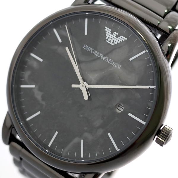 エンポリオ アルマーニ EMPORIO ARMANI 腕時計 メンズ AR11155 クオーツ グレーマーブル ガンメタ