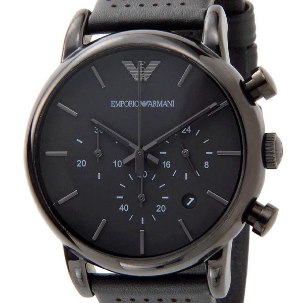 エンポリオ アルマーニ EMPORIO ARMAN クラシック クロノグラフ メンズ 腕時計 AR1737 ブラック
