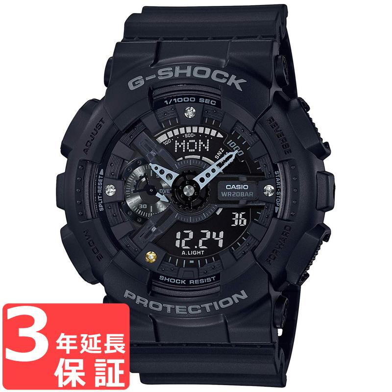 【名入れ対応】 【3年保証】 カシオ CASIO Gショック G-SHOCK ジーショック ダイヤモンド ブラック メンズ 腕時計 海外モデル GA-135DD-1ADR GA-135DD-1A
