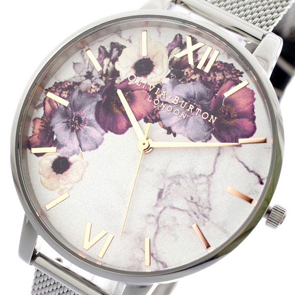 カジュアルからビジネスシーンまで使える時計 財布 バッグ 筆記具を多数ご用意しております プレゼント選びに是非ご覧ください クリスマス 誕生日 記念日 バレンタイン ホワイトデー BURTON シルバー ホワイト マート クオーツ オリビアバートン OLIVIA OB16MF09 腕時計 高い素材 レディース