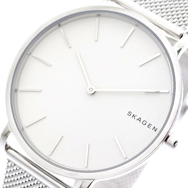 スカーゲン SKAGEN 腕時計 HAGEN ハーゲン メンズ レディース SKW6442 クォーツ ホワイト シルバー