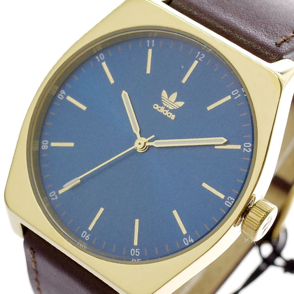 アディダス ADIDAS 腕時計 メンズ レディース Z05-2959 プロセス-L1 PROCESS-L1 CJ6352 クオーツ ブルー ダークブラウン