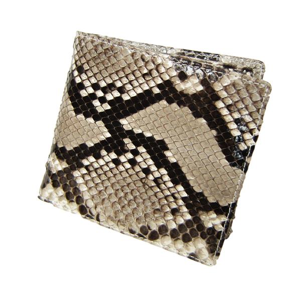 マトゥーリ Maturi ダイヤモンドパイソン 一枚革 二つ折り財布 短財布 MR-067 MR-067