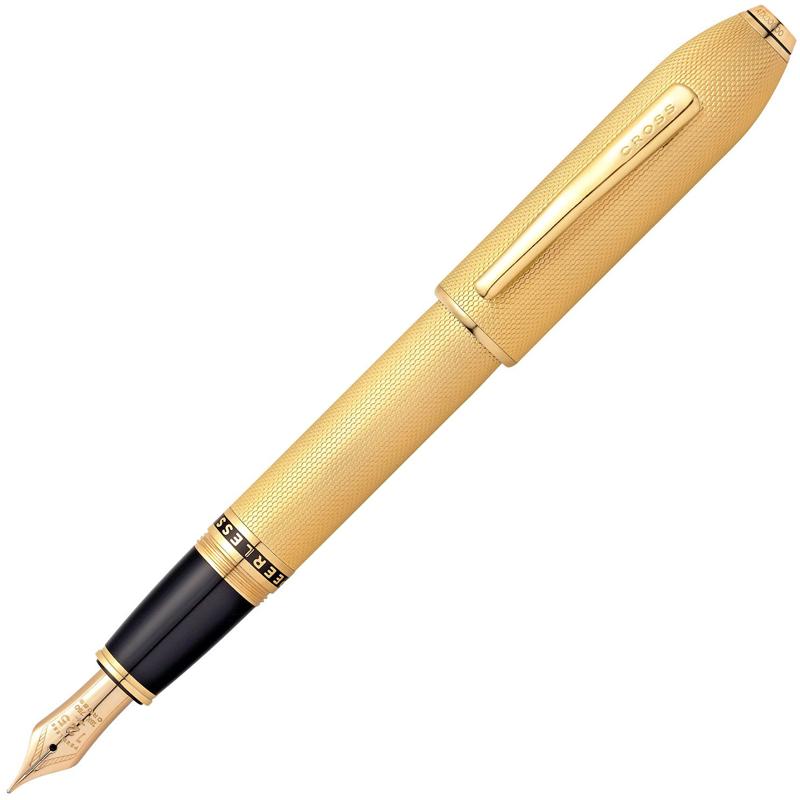 クロス CROSS PEERLESS 125 ピアレス125 23金ゴールドプレート 万年筆 18金ペン先 ペン先 F AT0706-4FD