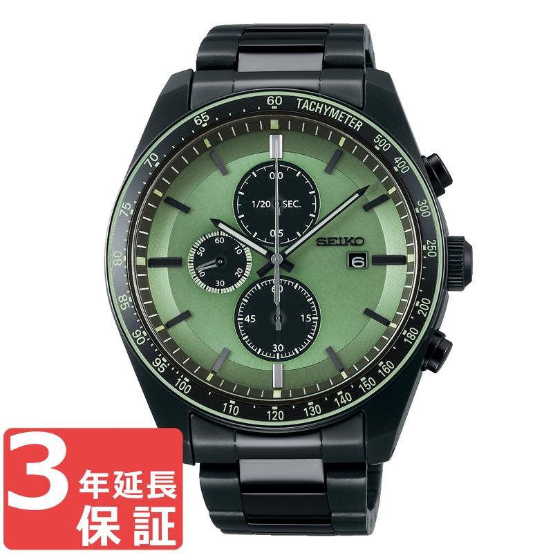 セイコー SEIKO SELECTION ソーラー メンズ 腕時計 グリーン ブラック SBPY147 正規品