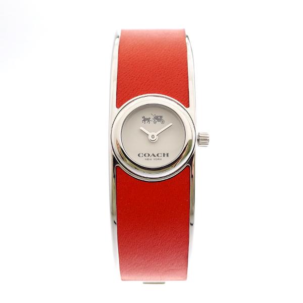 コーチ COACH レディース 腕時計 Scout スカウト シルバー コーラルレッドバングル 14502733