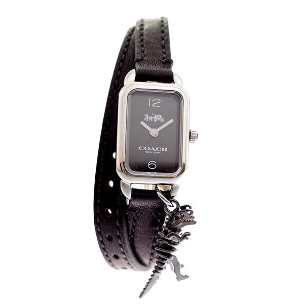 コーチ COACH レディース 腕時計 Ludlow ラドロー チャーム付き ダブルストラップ ブラック ブラックレザー 14502776