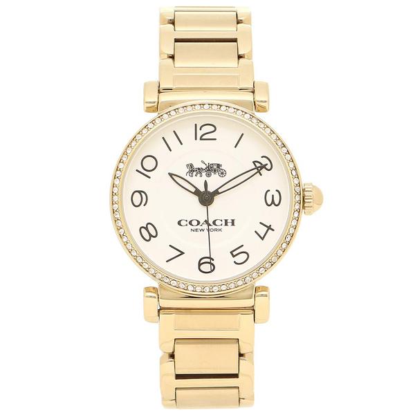 コーチ COACH レディース 腕時計 Madisonマディソン ホワイト ゴールド 14502855