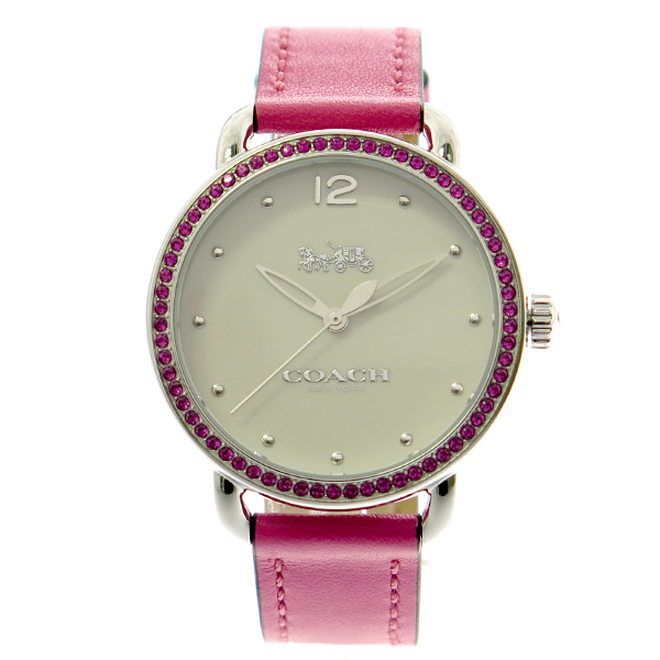コーチ COACH レディース 腕時計 Delancey デランシー ピンククリスタル ホワイト ピンクレザー 14502879