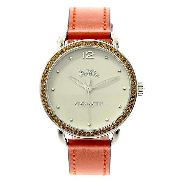 コーチ COACH レディース 腕時計 Delancey デランシー オレンジクリスタル ホワイト オレンジレザー 14502880