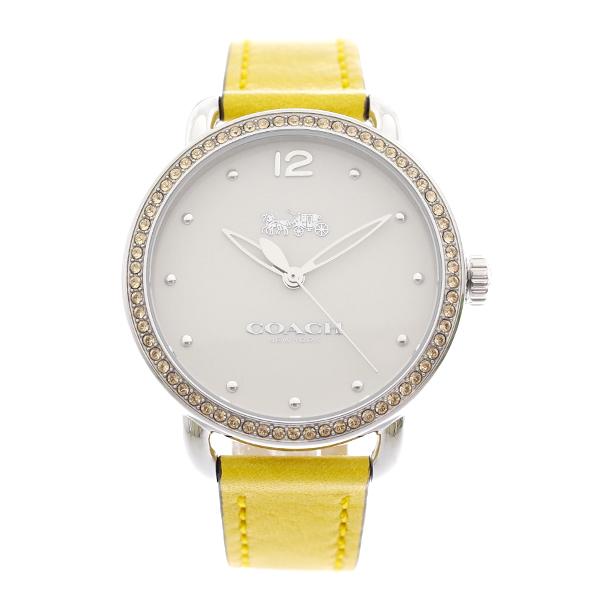 コーチ COACH レディース 腕時計 Delancey デランシー イエロークリスタル ホワイト イエローレザー 14502882
