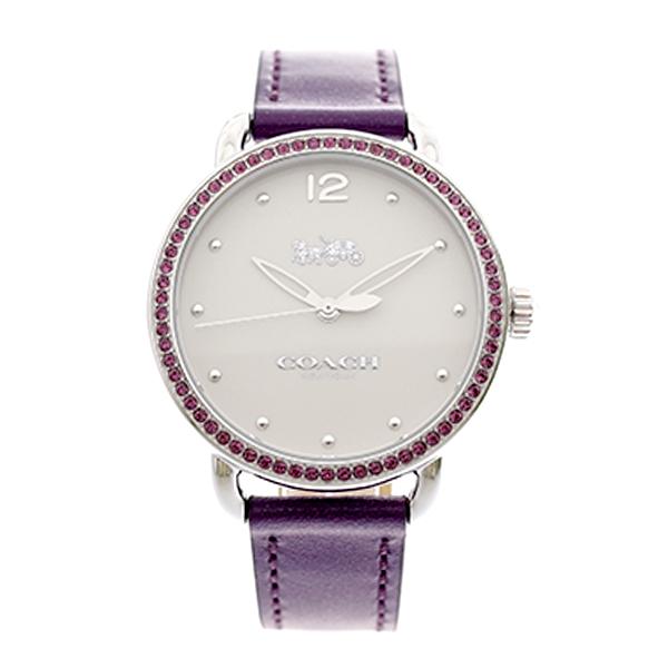 コーチ COACH レディース 腕時計 Delancey デランシー パープルクリスタル ホワイト パープルレザー 14502886