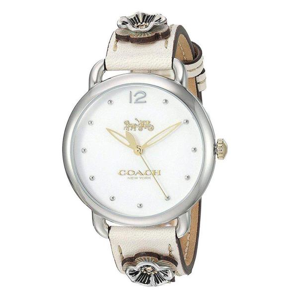 コーチ COACH レディース 腕時計 Delancey デランシー ホワイト アイボリーレザー フラワーモチーフ 14503079