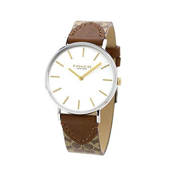コーチ COACH レディース 腕時計 Perry ペリー シルバー ブラウン シグネチャー柄レザー 14503121