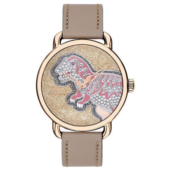 コーチ COACH レディース 腕時計 Delancey デランシー 恐竜 ザウルス ゴールド ベージュレザー 14503162