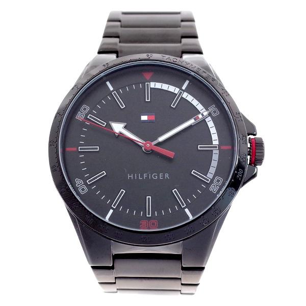 トミー ヒルフィガー TOMMY HILFIGER メンズ 腕時計 RIVERSIDE ブラック ブラック 1791525