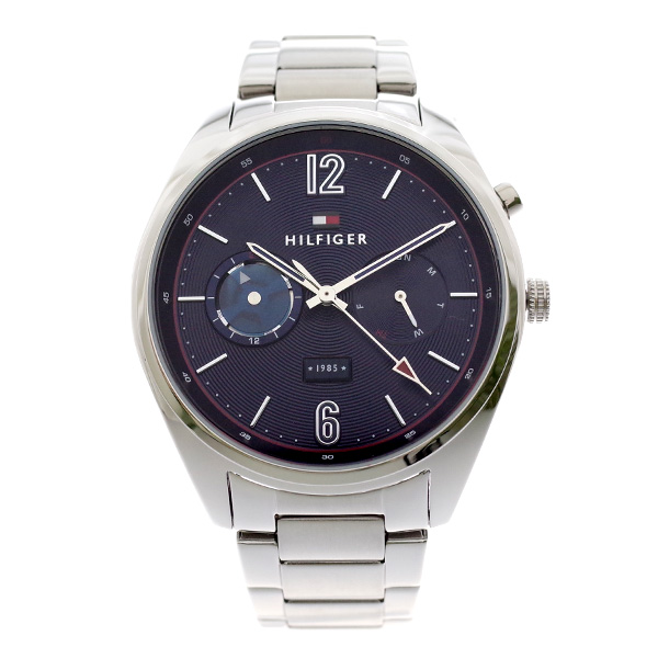 トミー ヒルフィガー TOMMY HILFIGER メンズ 腕時計 DEACAN ネイビー シルバー 1791551