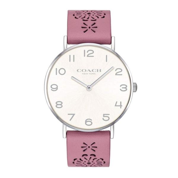 コーチ COACH ペリー Perry レディース 時計 腕時計 ホワイトシルバー ピンクレザー 14503030