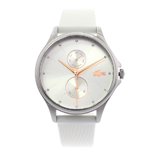 ラコステ LACOSTE クオーツ レディース 腕時計 2001023 KEA シルバー ホワイト ラバー