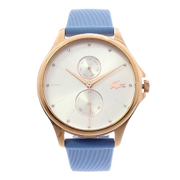 ラコステ LACOSTE クオーツ レディース 腕時計 2001024 KEA シルバー スカイブルー ラバー