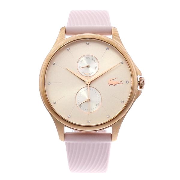 ラコステ LACOSTE クオーツ レディース 腕時計 2001025 KEA シルバー ピンク ラバー