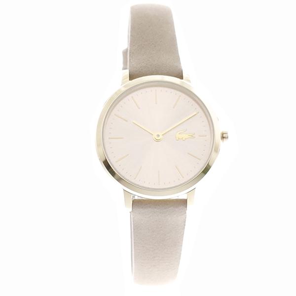 ラコステ LACOSTE クオーツ レディース キッズ 腕時計 2001049 MOON SMALL シャンパンゴールド グレージュ レザー