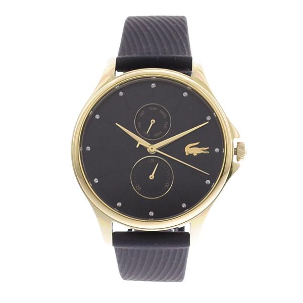ラコステ LACOSTE クオーツ レディース 腕時計 2001052 KEA ブラック ラバー