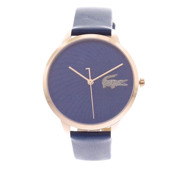 ラコステ LACOSTE クオーツ レディース 腕時計 2001058 LEXI ネイビー レザー