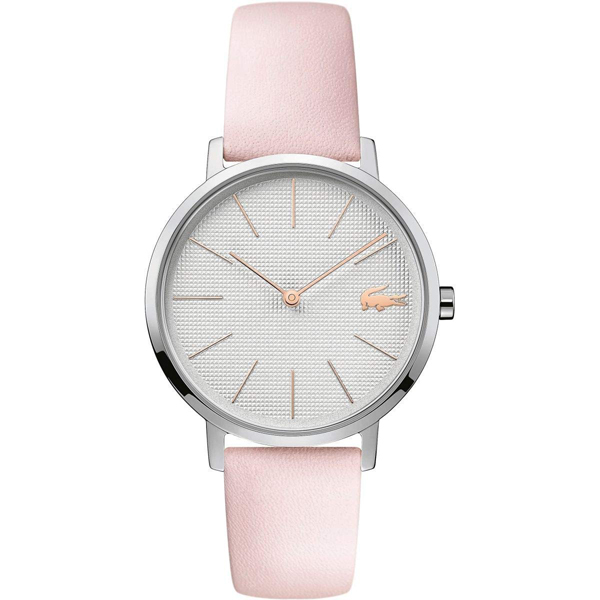 ラコステ LACOSTE クオーツ レディース 腕時計 2001070 MOON ホワイト ピンク レザー
