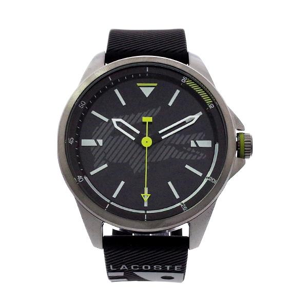 ラコステ LACOSTE クオーツ メンズ 腕時計 2010941 CAPBRETON ブラック ラバー