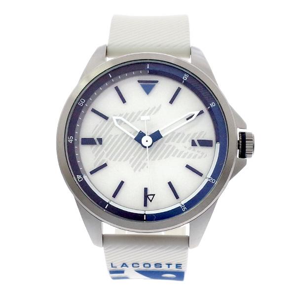 ラコステ LACOSTE クオーツ メンズ 腕時計 2010942 CAPBRETON ホワイト ラバー