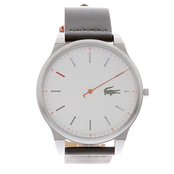 ラコステ LACOSTE クオーツ メンズ 腕時計 2010967 KYOTO ホワイト カーキ レザー