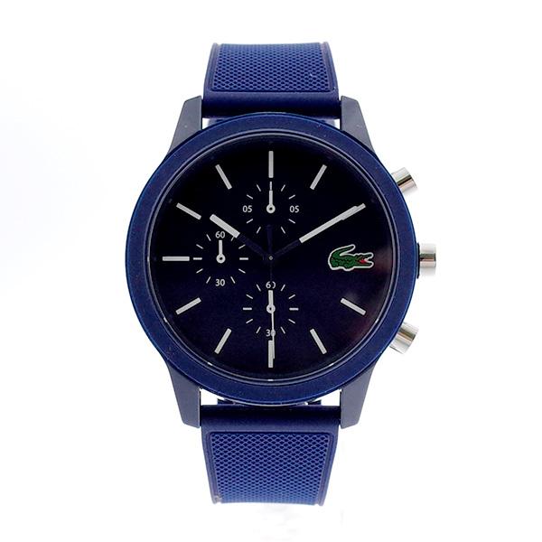ラコステ LACOSTE クオーツ メンズ 腕時計 2010970 L.12.12 ネイビー ラバー