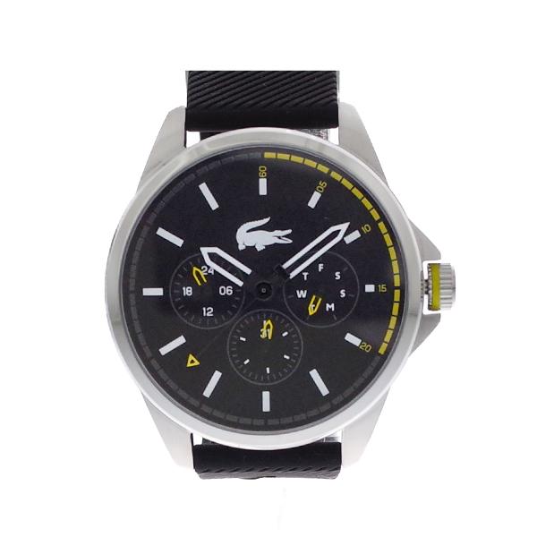 ラコステ LACOSTE クオーツ メンズ 腕時計 2010978 CAPBRETON ブラック ラバー