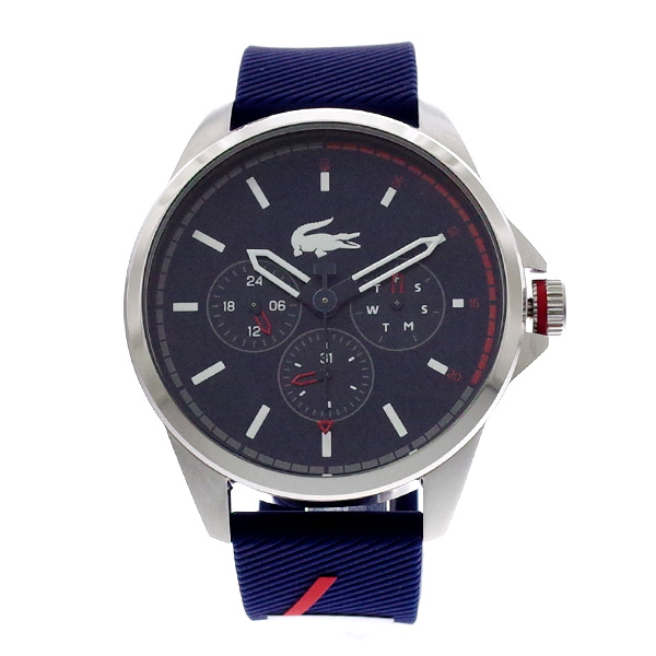 ラコステ LACOSTE クオーツ メンズ 腕時計 2010979 CAPBRETON ネイビー ラバー