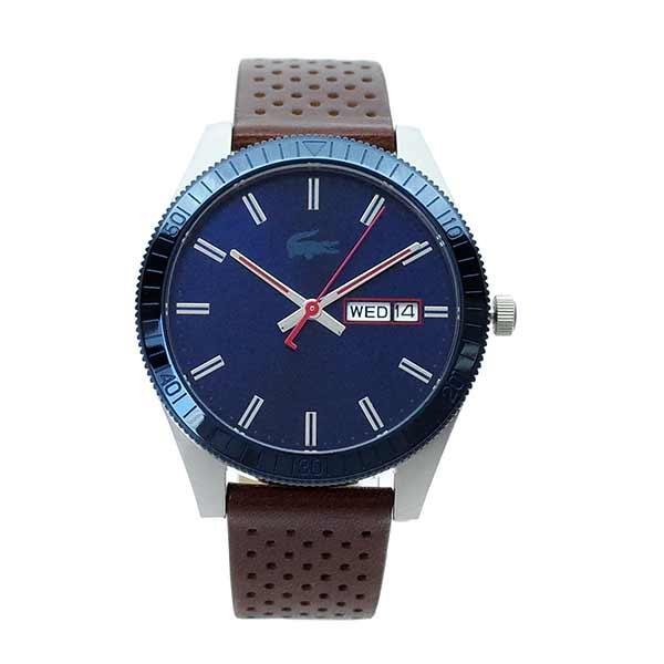 ラコステ LACOSTE クオーツ メンズ 腕時計 2010981 LEGACY ネイビー ブラウン レザー