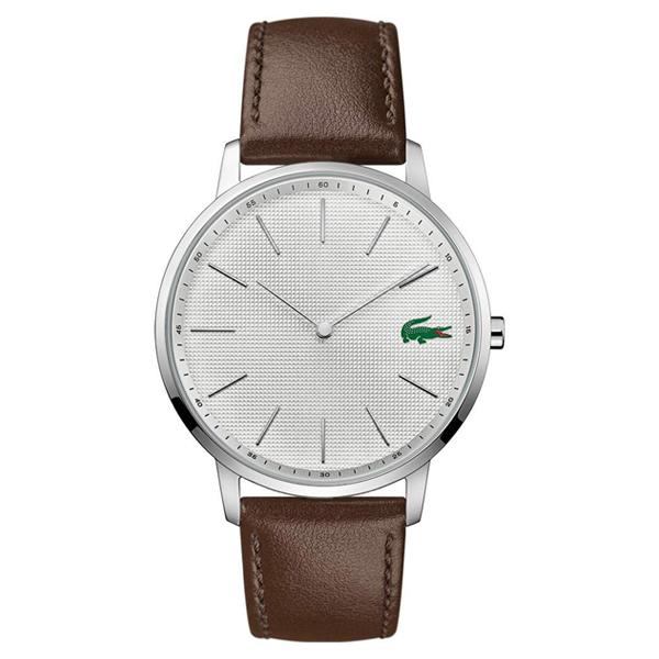 ラコステ LACOSTE クオーツ メンズ 腕時計 2011002 MOON ホワイト ブラウン レザー
