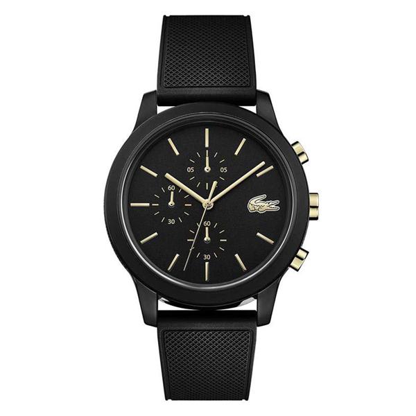 ラコステ LACOSTE クオーツ メンズ 腕時計 2011012 L.12.12 ブラック ラバー