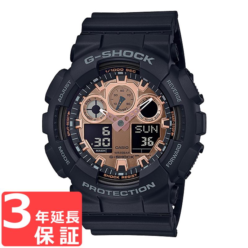 【名入れ対応】 カシオ CASIO G-SHOCK Gショック ジーショック SPECIAL COLOR メンズ 腕時計 ピンクゴールド ブラック GA-100MMC-1A GA-100MMC-1ADR