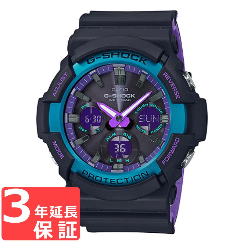 【名入れ対応】 カシオ CASIO G-SHOCK Gショック ジーショック メンズ 腕時計 ブラック ブルー パープル ネオン GAS-100BL-1A GAS-100BL-1ADR