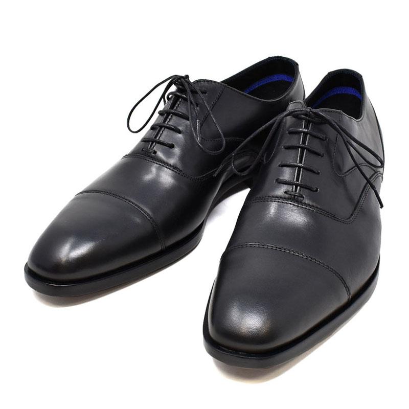 ポールスミス PAUL SMITH レザー ドレスシューズ ビジネスシューズ メンズ TOMPKINS トンプキンス 革靴 ブラック UKサイズ6.5 (25.5cm) M2S TOM01 AIBE BLACK