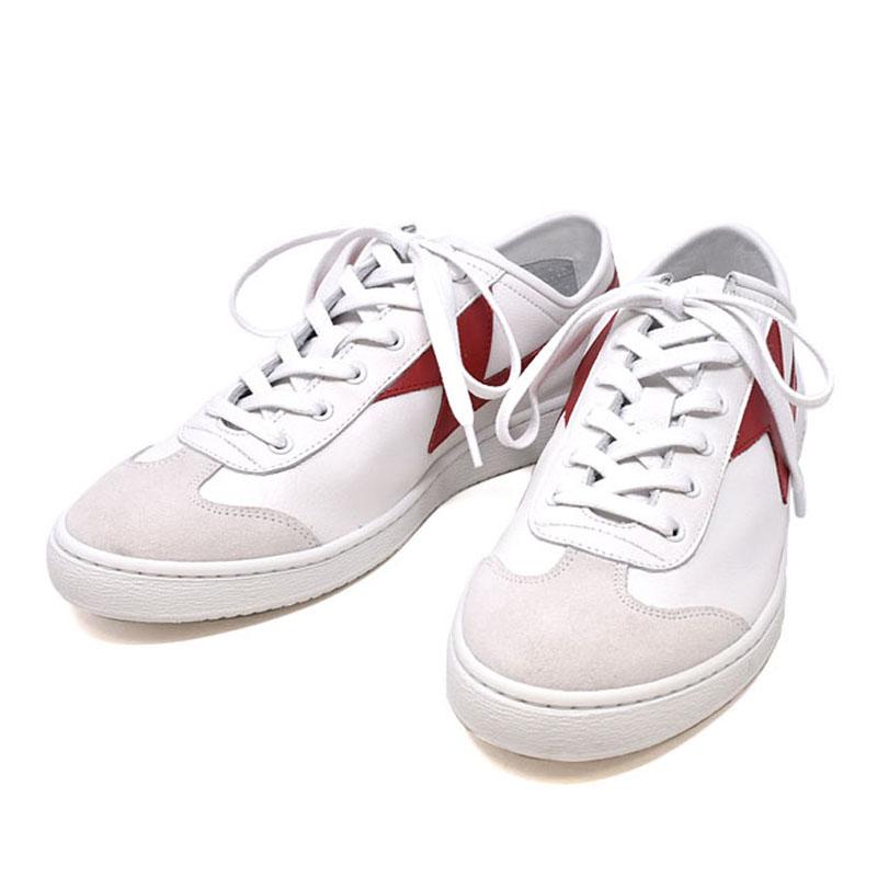 ポールスミス PAUL SMITH レザー スニーカー ZIGGY ジギー メンズ ホワイトレッド UKサイズ6 (25cm) M2S ZIG03 ASET WHITE RED