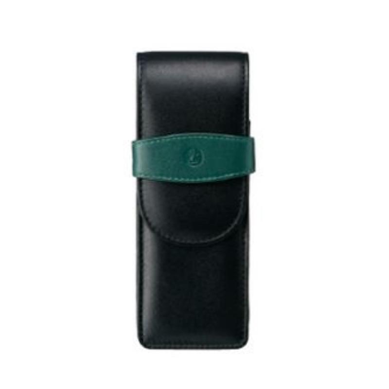 ペリカン Pelikan レザー ペンケース 3本用 TG-32 ブラック×グリーン 15×5.7cm