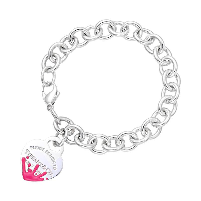 ティファニー Tiffany&Co 61523111 リターン トゥ ティファニー カラー スプラッシュ ハート タグ ブレスレット ピンク レディース TIFFANY & CO.