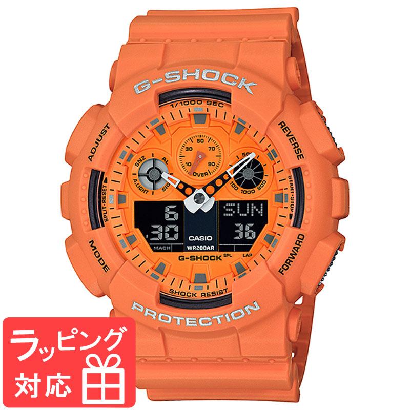 【名入れ対応】 カシオ CASIO Gショック G-SHOCK ジーショック SPECIAL COLOR メンズ 腕時計 海外モデル GA-100RS-4A GA-100RS-4ADR オレンジ