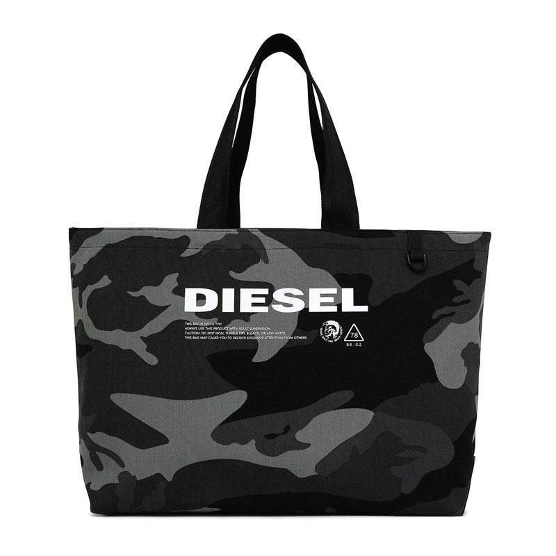 ディーゼル DIESEL トートバッグ 鞄 バッグ メンズ モノトーン グレー ブラック カモフラ 迷彩 ブランド X05513 PR027 H5253