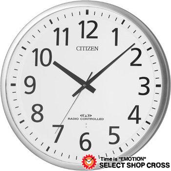 シチズン CITIZEN リズムクロック Rhythm Clock スペイシー Spacey クォーツ 掛時計 8my46519 シルバー×ホワイト 白 【着後レビューを書いて1000円OFFクーポンGET】