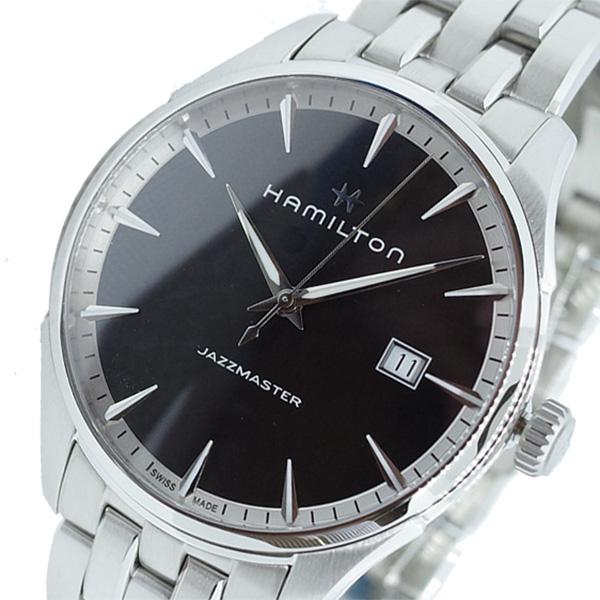 ハミルトン HAMILTON 腕時計 メンズ H32451131 ジャズマスター JAZZMASTER クオーツ ブラック シルバー
