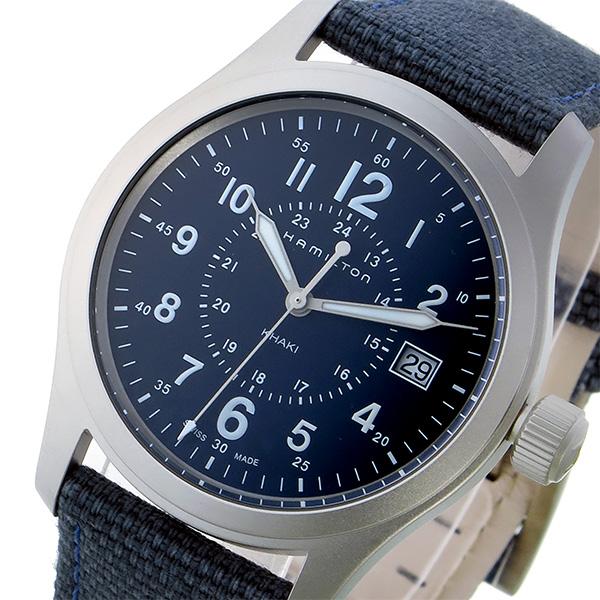 ハミルトン HAMILTON カーキ フィールド KHAKI クオーツ メンズ 腕時計 H68201943 ネイビー