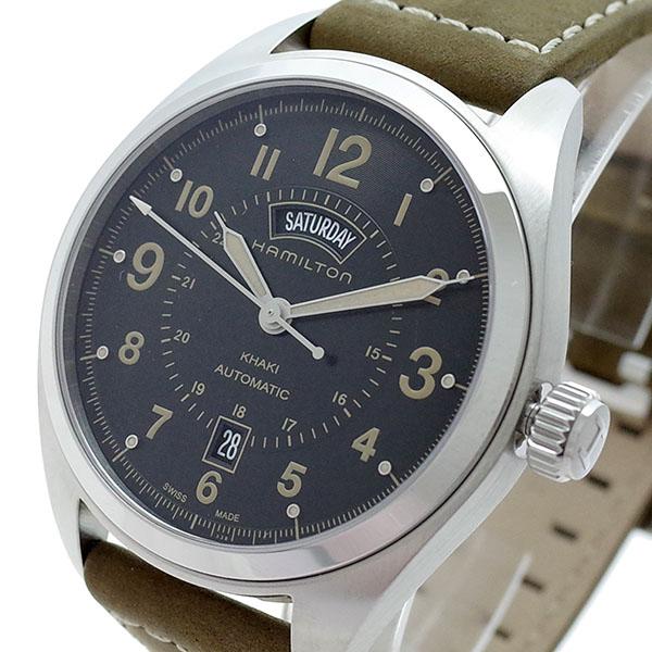 ハミルトン HAMILTON 腕時計 メンズ H70505833 カーキフィールドデイデイト 自動巻き ブラック カーキ